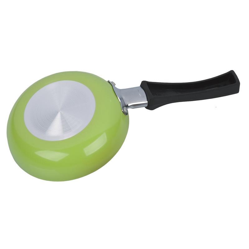Kleine koekenpan groen aluminium 12 cm