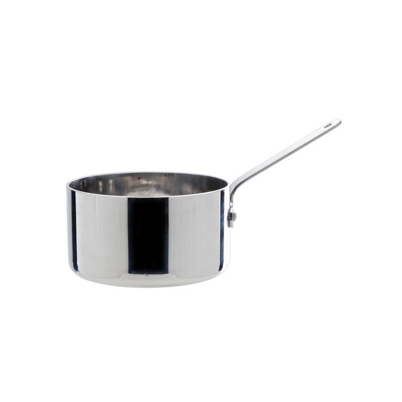 Mini steelpan sauspan rvs 8 cm
